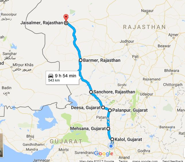Jaisalmer Route