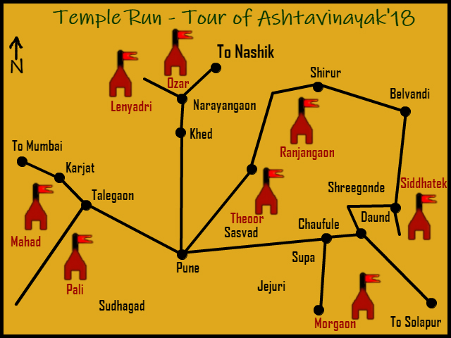 Temple Run- Tour of Ashtavinayak' 2018